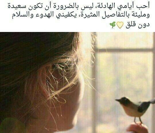 اللهم إجعل أيامي هادئة خالية من ضجيج أفكاري ووساوس الشيطان Arabic Quotes Arabi Words