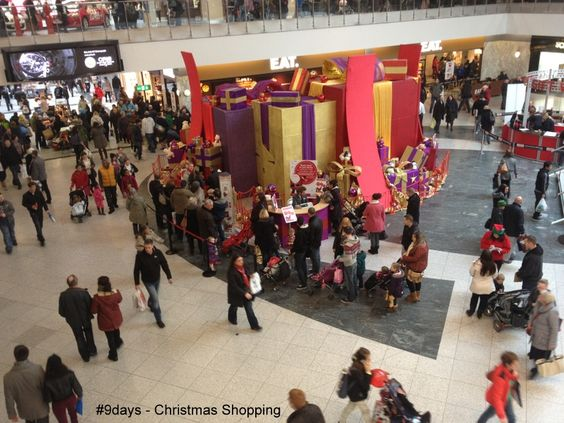 """#9days 'til Christmas: """"Love it or hate it, Christmas shopping is a huge part of the festive season. Here's Manchester Arndale on a busy Christmas shopping day."""" #shopping"""