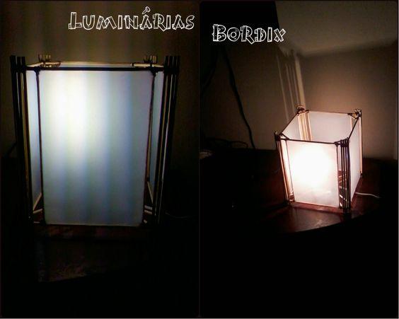 Luminárias feitas a mão