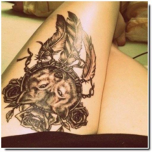 Tatouage attrape r ves tatoo pinterest - Tatouage attrape reve cuisse ...
