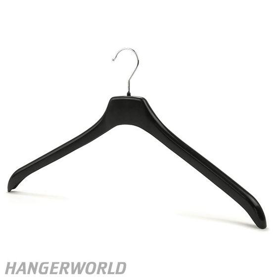 Extra Wide Black Plastic Top /Jacket Hanger - 49cm
