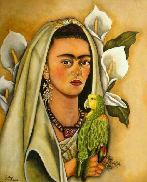 marytere42:Frida y su perico