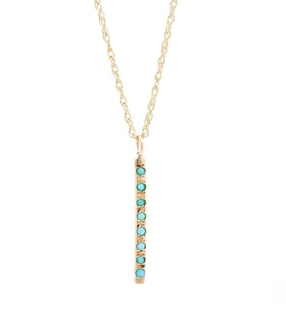 catbird :: WHAT'S NEW: jewelry :: Sunshine Necklace, Gold w/Turquoise