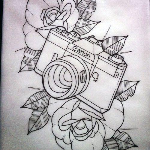 Resultado De Imagem Para Camera Tattoo Tumblr Tattoo Stencil