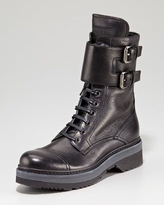 Motorcycle Boot by Prada. Can't go without a pair of jodeci boots