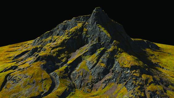 Create Stunning Landscapes In Houdini Https T Co Ynjkcdhrwl Houdini Landscape Mountain Scene