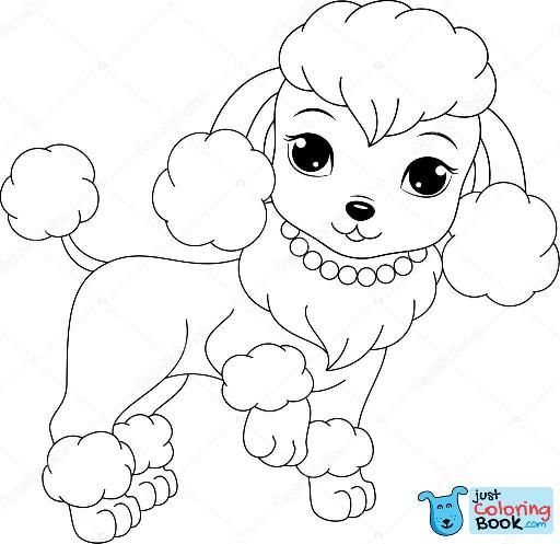 Coloring Cartoon Poodle Coloring Pages Forids Animals Baby To