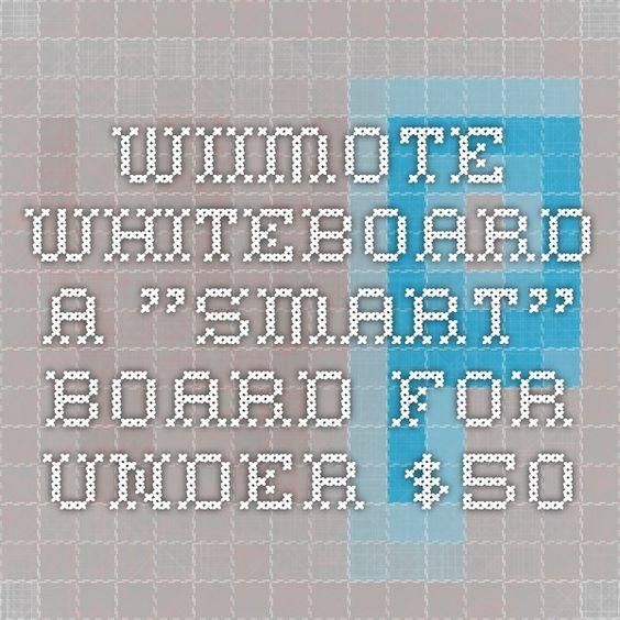 "Wiimote Whiteboard - a ""smart"" board for under $50"