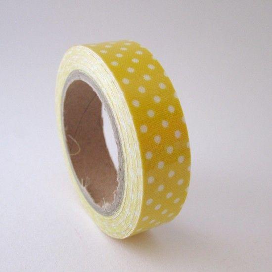 Fabric Tape pois jaune