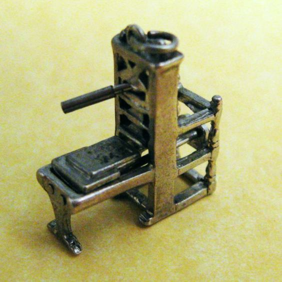 Vintage Sterling Silver Charm MOVABLE MINIATURE GUTENBERG PRINTING PRESS, perfect charm for a book dork like me!