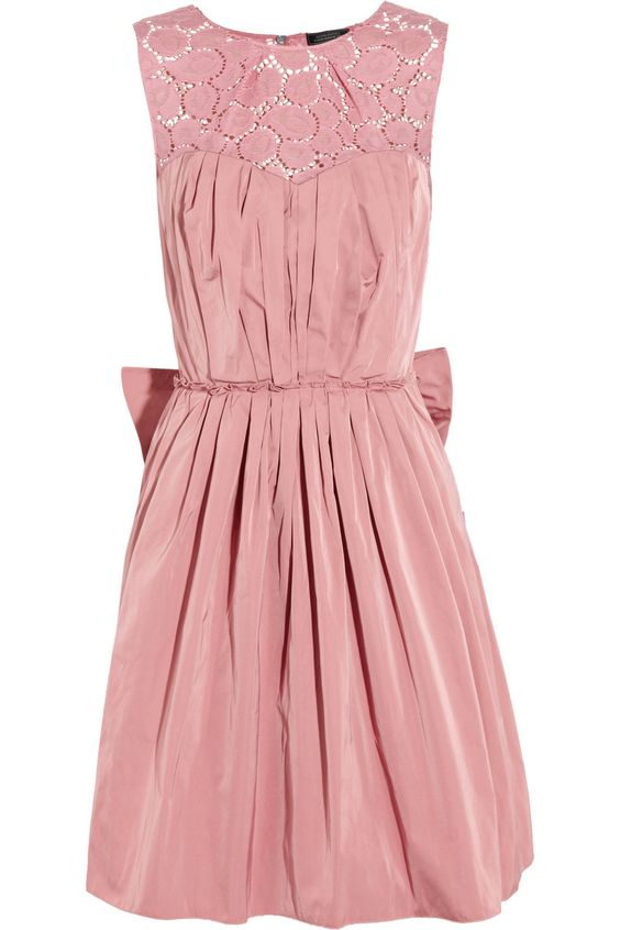 Nina Ricci | Taffeta and lace dress  |