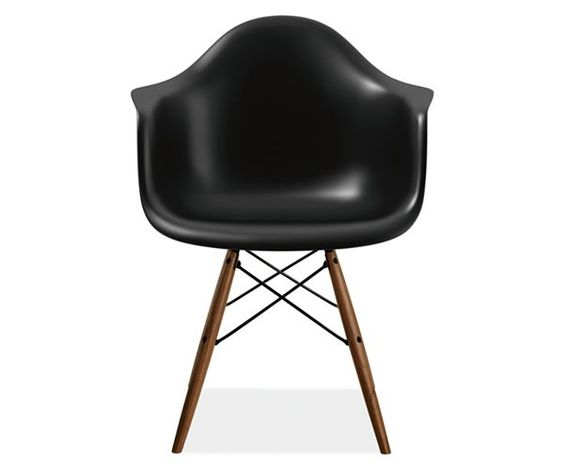 Eames® Molded Plastic Chairs with Walnut Dowel Leg Base - Herman Miller Collection - Dining - Room & Board