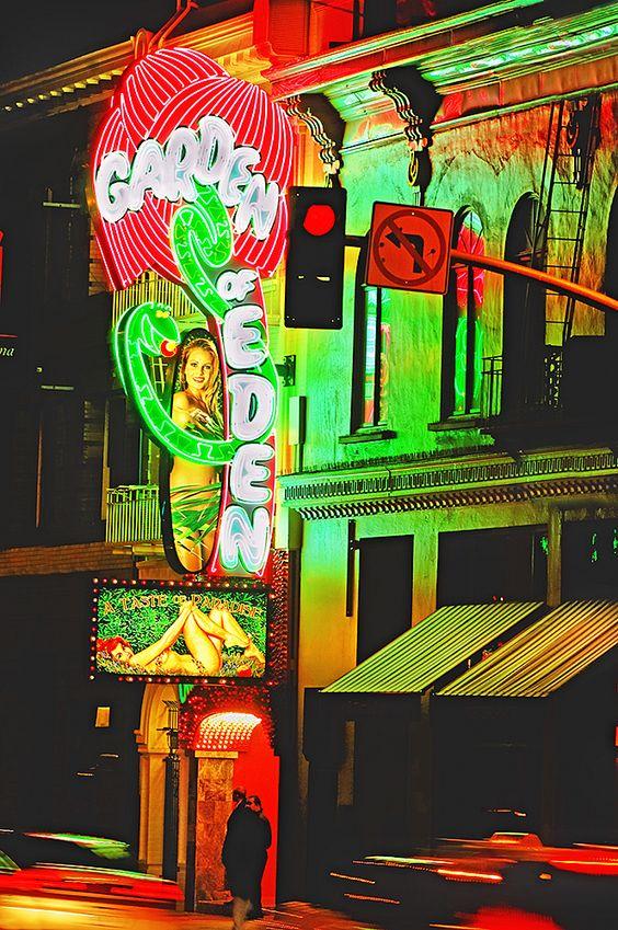 Garden Of Eden Strip Club In North Beach District San Francisco San