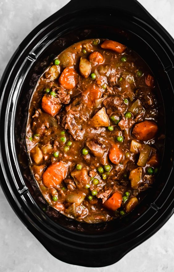 Mom's Slow Cooker Beef Stew Recipe | Ambitious Kitchen