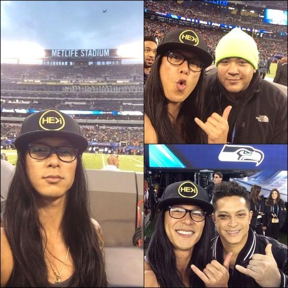 Super Bowl XLVIII BABY!!!!! #nfl #halftime #seahawks #HE>i #shaka #longhairdontcare #tanktopsalldayeveryday @dreft_la @epandagram
