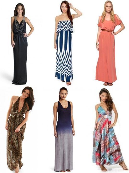Maxi dress different styles