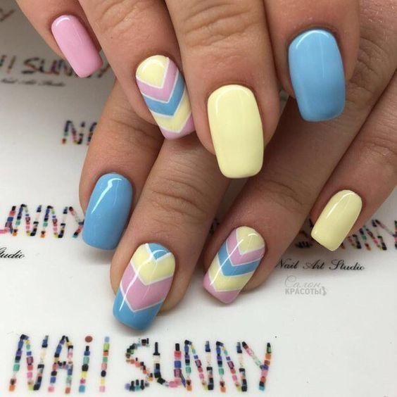 Toca La Imagen Y Aprende A Pintar Las Uñas De Una Manera Muy Bonita Y Fácil Paso A Paso Curso Gratis Easter Nails Dream Nails Image Nails