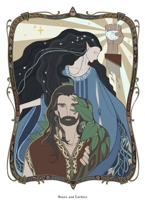 Beren and Luthien  [Eälindalë by wavesheep]