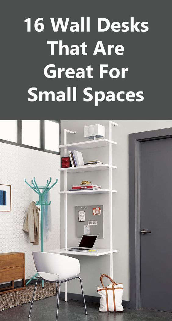 16 Wall Desk Ideas That Are Great For Small Spaces Desks For Small Spaces Small Wall Desk Furniture For Small Spaces