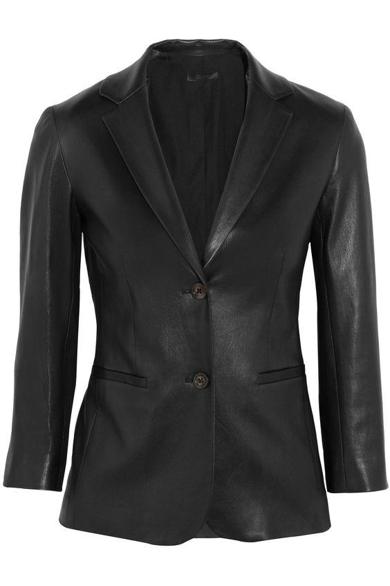 THE ROW Nolbon leather blazer  $3,345.00 https://www.net-a-porter.com/product/836096