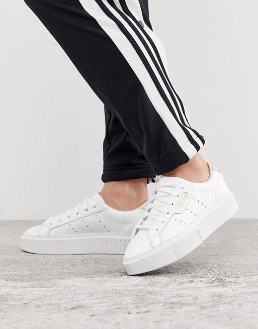 adidas Originals Super Sleek sneakers in white | ASOS