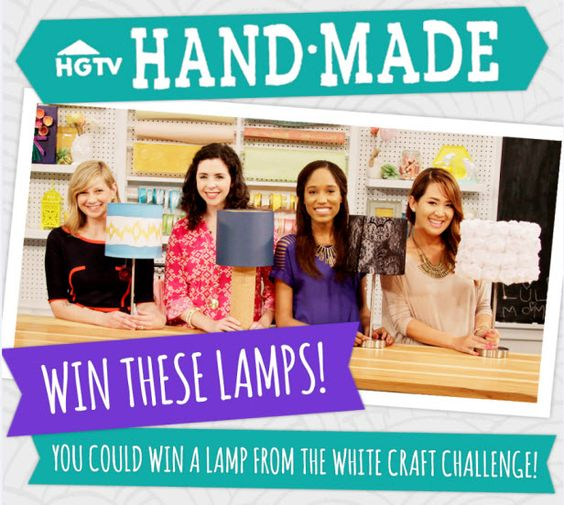 Win a Lamp From HGTV Handmade! (http://blog.hgtv.com/design/2014/07/25/freebie-friday-win-a-lamp-from-hgtv-handmade/?soc=pinterest)