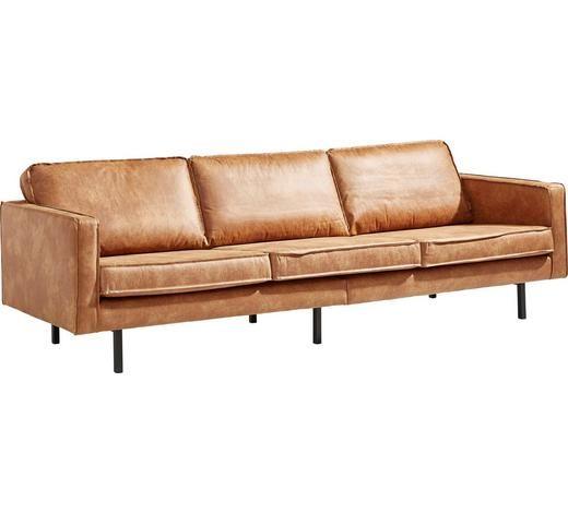Dreisitzer Sofa In Textil Braun Federkern Sofa Sofa