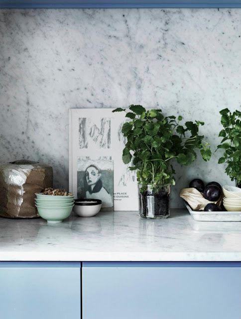 : Blue Cabinets, Counter Top, Blue Marbles, Kitchen Design, Kitchen Details