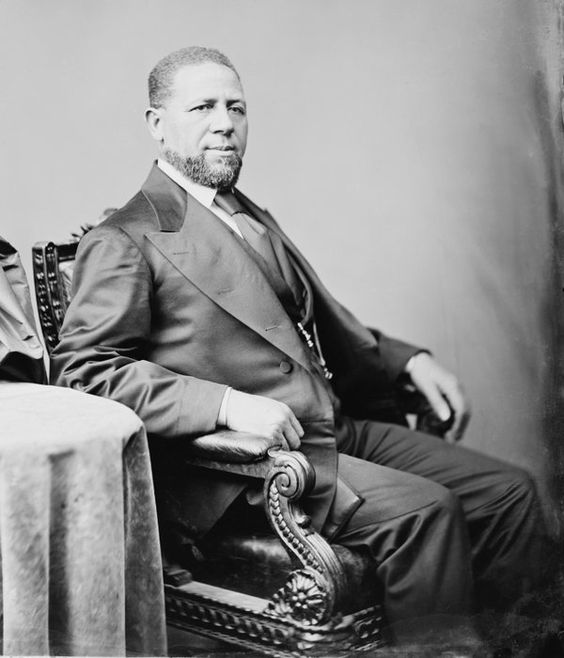 Senator Hiram Rhodes Revels, first African-American to sit in the US Senate. Photograph by Mathew Brady, circa 1870.