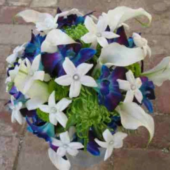 Blue dendrobium orchid wedding bouquet | Wedding ...