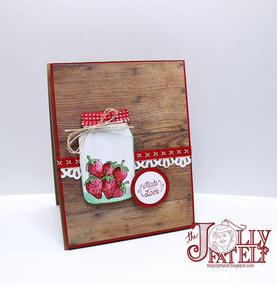 Sharing Sweet Thoughts-Mason Jar Card