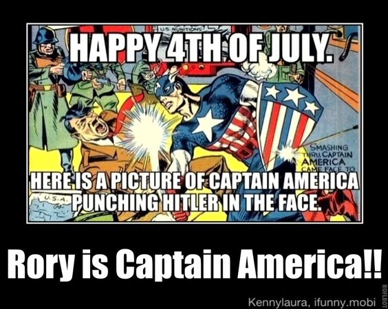 Rory is Captain America!!