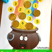 St. Patrick's Day Playdough Mats (Love to Learn Linky #32) - Totschooling