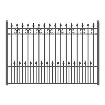 4 Ft X 2 Ft Screen Series Metal Fencing In 2020 Steel Fence Wrought Iron Fences Steel Fence Panels