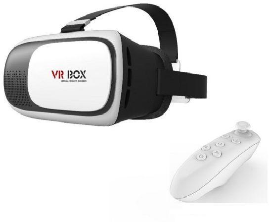في ار بوكس نظارة الواقع الافتراضي ثلاثية الابعاد مع ريموت Vr Box Virtual Reality 3d Glasses With Remote Control Gamepad Goggles Electronic Products Vr Goggle