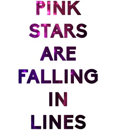 Under the Dome cards | Tee shirt Under the Dome Pink Stars are falling in lines-LOGO