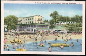 Betterton Beach Md Hotel Chesapeake Cottages Vintage Maryland Postcard Old Pc And Travel