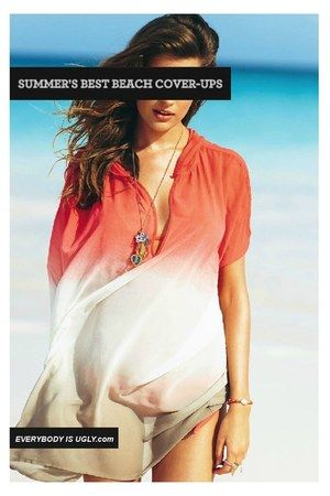 Beach Cover-Up #Ombre #Coral #Fabric Dye