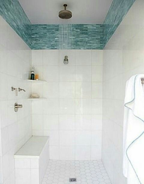 Mosaic Accent Tile Placement Bathrooms Remodel Bathroom Makeover Beach Bathrooms