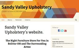 New Furniture Stores added to CMac.ws. Sandy Valley Upholstery in Bolivar, OH - http://furniture-stores.cmac.ws/sandy-valley-upholstery/29574/