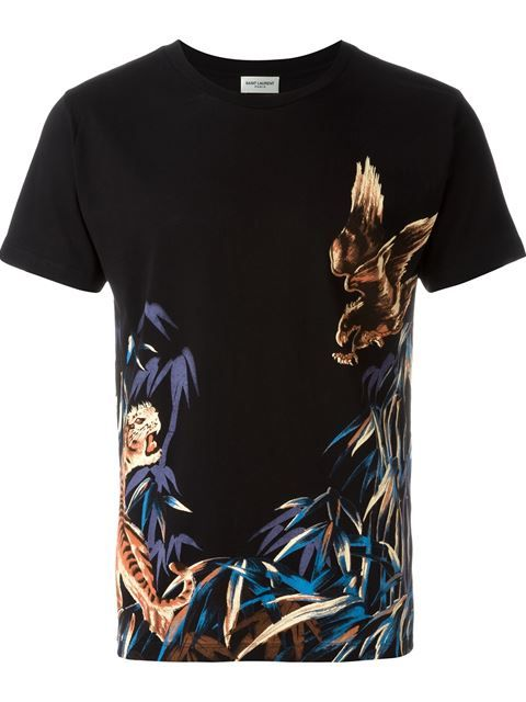 Saint Laurent Camiseta com estampa