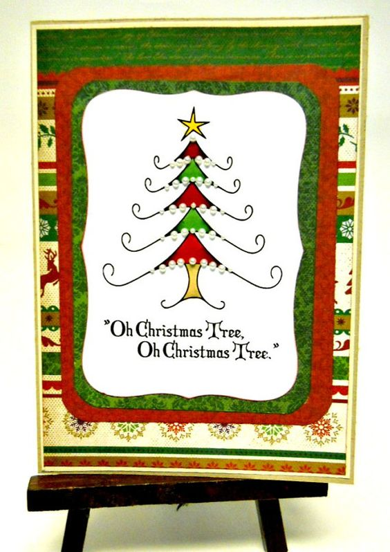 Vintage Oh Christmas Tree Christmas Card