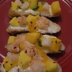 Shrimp and Mango Bruschetta Allrecipes.com