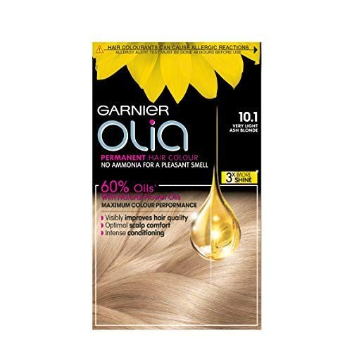 Garnier Olia Very Light Ash Blonde Permanent Hair Dye No Ammonia