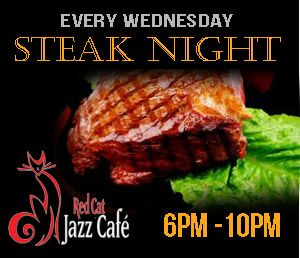 Thumbs up! 'Steak Night' and live music at Red Cat Jazz Cafe.