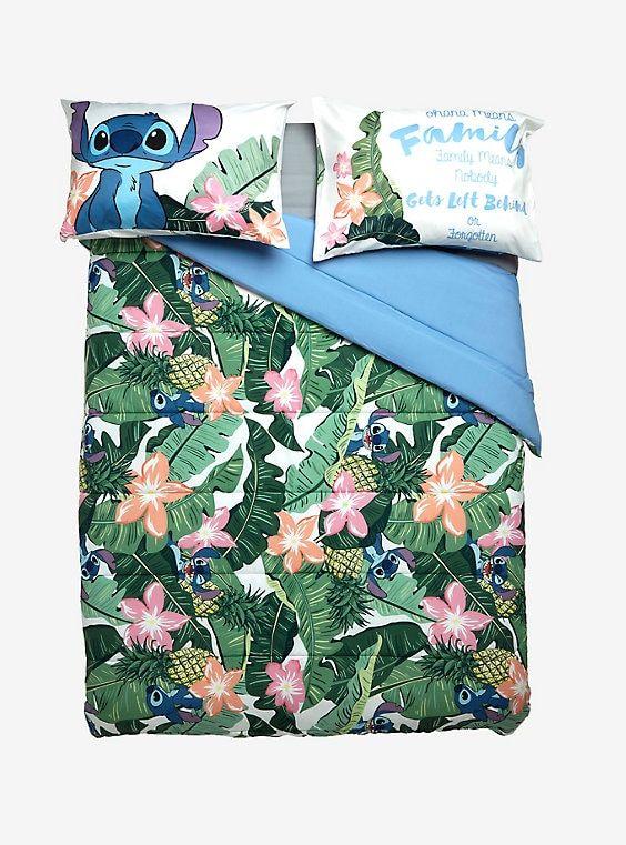 Disney Lilo Stitch Tropical Stitch Full Queen Comforter Lilo