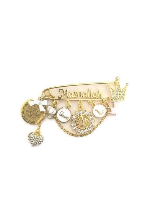 Mashallah Clear Personalised Diamante Initial Ayatul Kursi