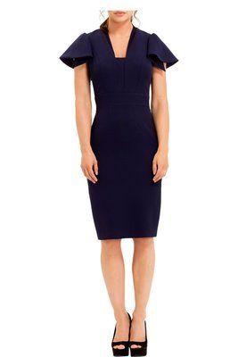 Shop Camden Navy Dress by Eden Row at LUX-FIX.com