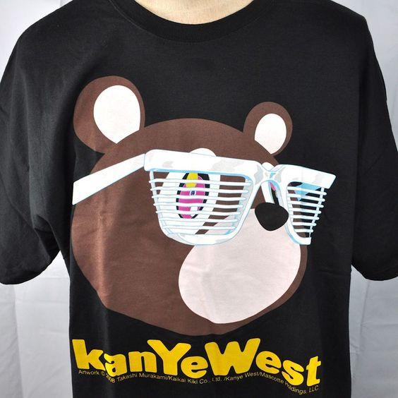 Kanye West Takashi Murakami Bear Glow Concert Xxl T Shirt 2xl 2008 Mens Nos New Takashi Murakami Xxxl T Shirts Murakami