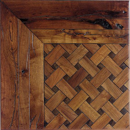 Wood floor layout patterns pillowed edge pattern for Custom hardwood flooring